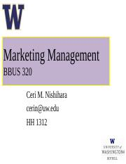 BBUS 320 - Chapter 6 - Customer Driven Marketing Strategy