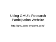 Research Studies Sign Up Information