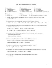 PHL 245 Practice Test 2 Answers