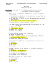 Practice Exam 3 Answer Key-Dr. Tucker's Section
