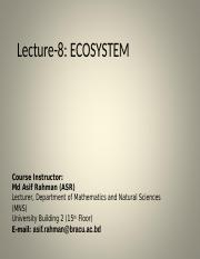 Lecture 8 Ecosystem_ASR.ppt