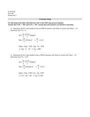 ECE 407 Homework 1 With Solution