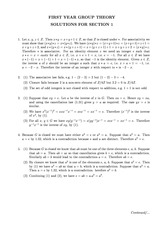 Problem Set 1 Solution on Group Theory