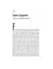 Student Engagement A Key to Student Success KUH Ch1