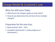 Class 013 - Coulomb's Law
