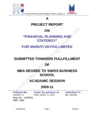 Financial Analysis - Maruti Udyog Limited_Final.doc