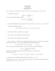 3C03 Assignment 5 Solutions