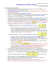 Lecture notes on Exper_Uncertainty_Analysis