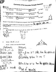 converse of isocolese triangle theorem notes