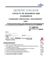 Entrepreneurship & Enterprise Dev't Assi  II(2).docx