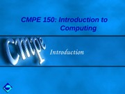 CMPE150-Ch1-Introduction