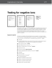 53 Testing negative ions