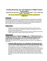 Finding Meaning Joy and Happiness Instructions.docx