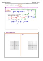 areas of squares on coordinate planes notes