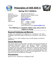 GISC 4043 Principles of GIS - Spring 2011