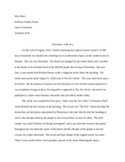 hiroshima running head hiroshima similes light and water can  6 pages hiroshima essay