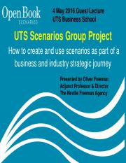 UTS Scenario Group Project Lecture 4 May 16 with addtional slide 8 and modified slide 9 on documenti