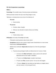 PSY 105 Full Course Lecture Notes
