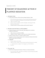 Theory of Reasoned Action & Planned Behavior-CHPT 4 .docx