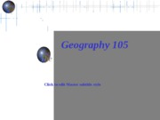 GEOG105 -course overview