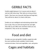 GERBLE FACTS