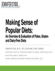 CNS Lecture Making Sense of Popular Diets