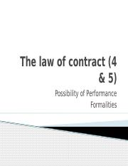 Buslaw 1 - Part B _4_ - Contract _Possibility of Performance _ Formalities_.pptx