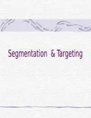 Targeting  Segmentation.ppt
