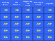 Jeopardy Exam One Review
