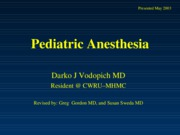 pediatricAnesthesia