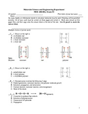 Test D Solutions on Mechanical Properties of Structural Materials