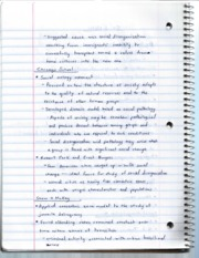 Intro to Criminology 262 Lecture Notes 7