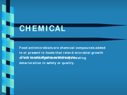 Lecture - Chemical Preservative Methods