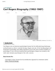 Carl Rogers Biography (1902-1987)