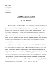 3 cups of tea