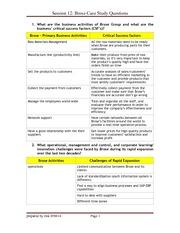 brose case homework