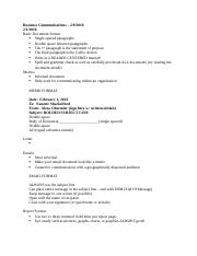 Notes - Business Communications