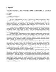 3. Terrestrial Radioactivity and Geothermal Energy