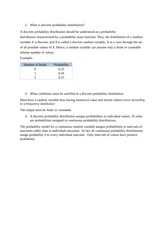 What is discrete probability distribution