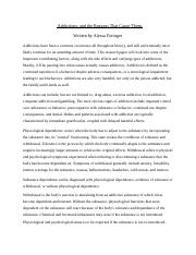 Addictions research paper