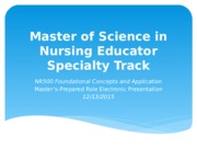 Master's-Prepared Role Electronic Presentation. Tanner.pptx