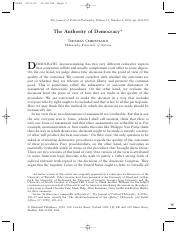 Christiano - The Authority of Democracy.pdf