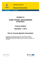 ECON2112_Game Theory and Business strategy- Gabriele Gratton  _S12015
