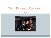Third Parties to Contracts