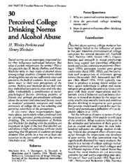 PerkinsWechsler - Perceived College Drinking Norms and Alcohol Abuse - Troubled Times