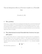 viscous dissipation effects poiseuille flow convective effects_0