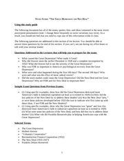090 Great Depression and New Deal Study Guide