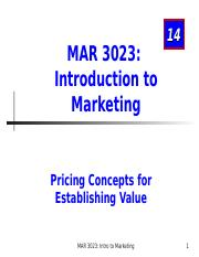 MAR3023_Chapter 14_Pricing