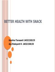 Kasus 1 chapter 12 (Better Health With Snack)