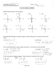 Precal 5.1 Test Review Solutions